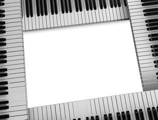 Piano keys frame