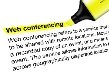 Highlighter Web conferencing