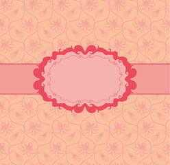 Template frame design for greeting card . Seamless background.