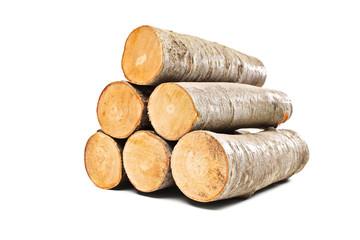 Poster Firewood texture Pile of beech firewood