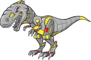 Robot Tyrannosaurus Dinosaur Vector