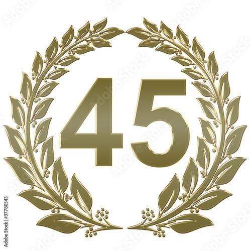 45 Hochzeitstag | Lorbeerkranz Geschlossen Gold 45 Stockfotos Und Lizenzfreie