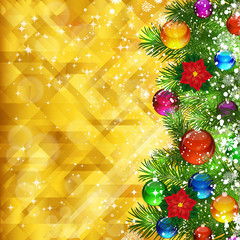 Stars golden background and place for your text.