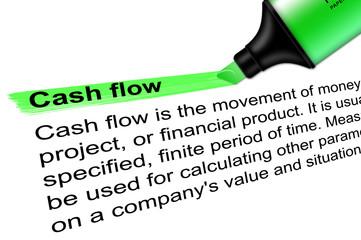 Highlighter Cash flow green