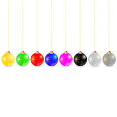 decorative ball in different color vector illustration