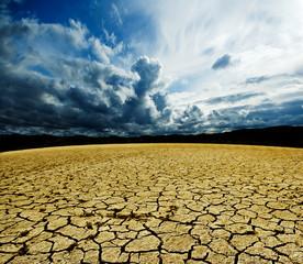 paisaje de suelo agrietado