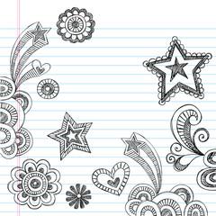 Sketchy Notebook Doodles Vector Illustration Design