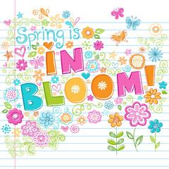 Flowers in Bloom Sketchy Doodles