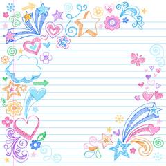 Sketchy Notebook Doodles Vector Illustration