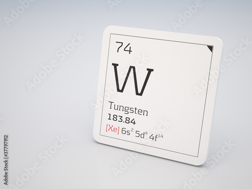 Wolfram Element Of The Periodic Table Stock Photo And Royalty