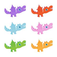 six little dinosaurs