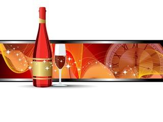 abstract background champange bottle,champange glass