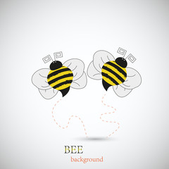Bee for your design. Vector illustration