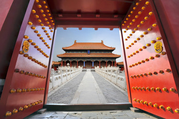 Spoed Fotobehang China Forbidden city in Beijing , China