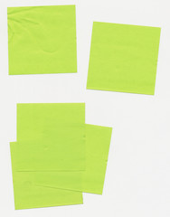 Post it notes - taped paper