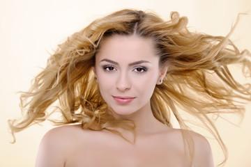 beautiful blond woman studio shot; beauty portrait