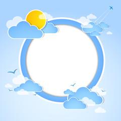Photo sur Aluminium Ciel Blue sky with clouds. Illustration