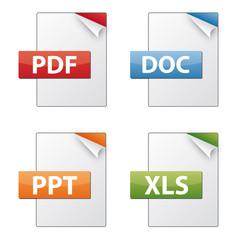 Dateiendungen Dokumentenymbole - Sammlung 01