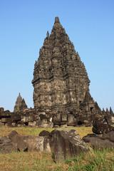 Part of architecture Hindu temple Prambanan Indonesia Java