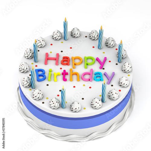Happy Birthday Cake Stockfotos Und Lizenzfreie Bilder Auf Fotolia