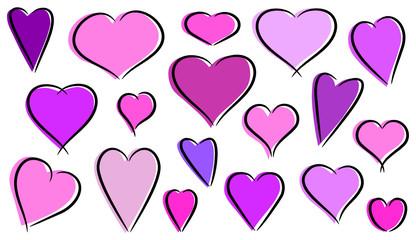 abstract pink hearts