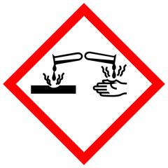 Schild Gefahrgut - Ätzwirkung