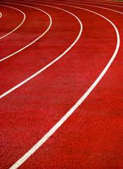 Bright Red Running Track