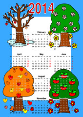 Calendar 2014, trees