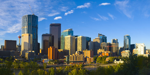 The City of Calgary Skyline at Sunrise