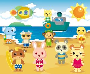 Beach Animal Party