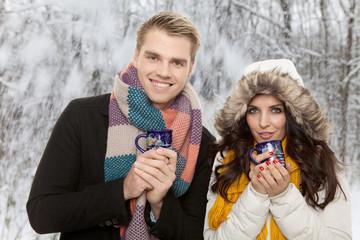 pärchen winter