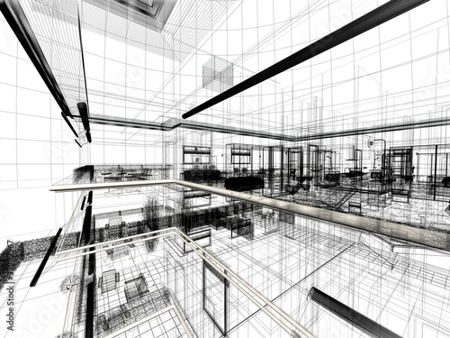 Appartamento rendering 3d interni architettura progetto for Progetti architettura interni