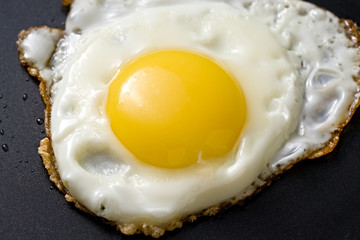 Fried egg in a griddle