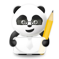 Business Panda with empty board