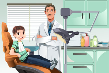 Kid in dentist office