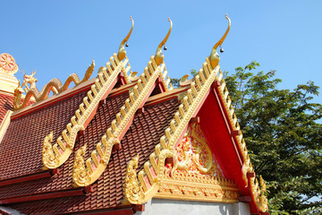 Thai style roof of temple