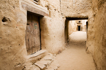 Ancient Ruins of El-Qasr in Dachla
