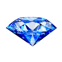 single blue diamond