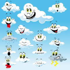 Printed roller blinds Heaven clouds with many expressions