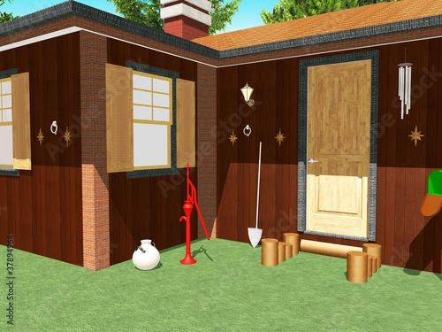 Casa Di Legno Baita Esterno Wooden House Chalet Exterior