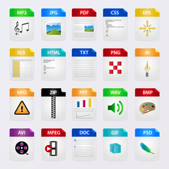 file icon seteps vector illustration