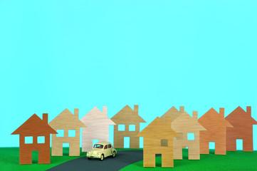 maquette de projet d'urbanisation