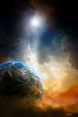 Fototapete - Planet in danger