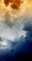 Fototapete - Dark sky