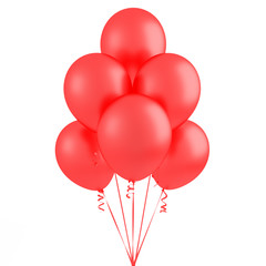 Party red flying balloons