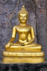 Buddha image in the attitude of Subduing Mara