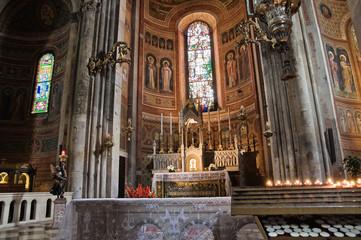 Interior Cathedral. Piacenza. Emilia-Romagna. Italy.