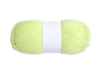 yellow green knitting yarn