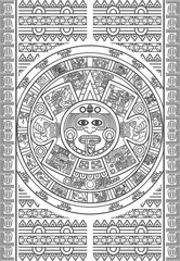 Stylized Aztec Calendar