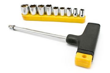T-shaped torx wrench screwdriver and kit bits
